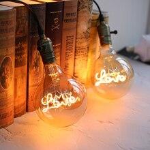 Retro LED Edison Bulb G125 LOVE Edison lamp E27 Vintage LED