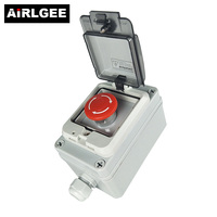 ABS Plastic IP67 Waterproof Junction Boxes Emergency stop switch Control Box Connection Electric Enclosure Case Outdoor Indoor