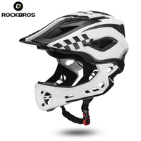ROCKBROS 2 In 1 Children Bicycle Cycling Helmets Full Covered Child Helmets Motorcycle Bike Riding Sport Safety Hats 3 Colors