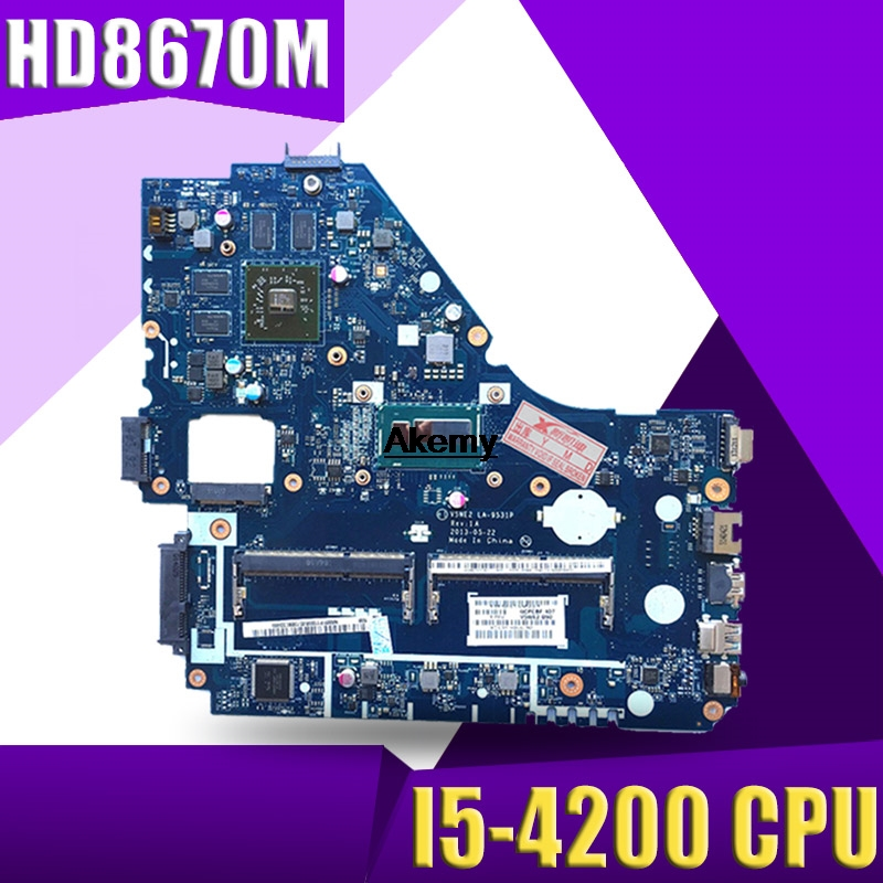 E1-572G Mainboard For Acer E1-572 V5-561G Motherboard V5WE2 LA-9531P I5-4200 CPU HD8670M GPU Test Work 100% Original