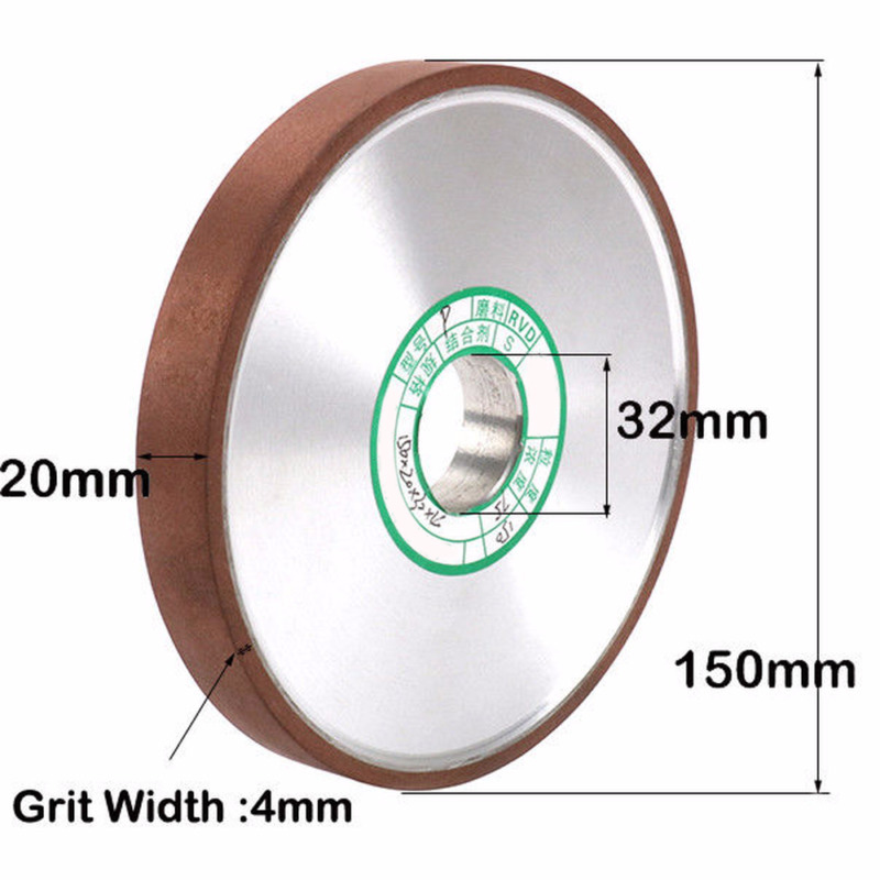 1x 150mm 6 Inch Resin Diamond Grinding Wheel Disc Carbide Cutter Metal Grinder 5/4