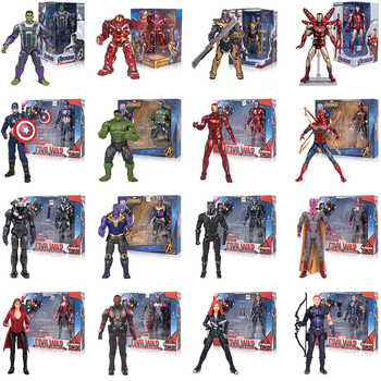 Genuine 17CM Marvel Avengers Endgame Super Heroes Iron Man Black Panther SpiderMan Captain America Action Figure Model Kids Toys new kids toys watch action figure the avengers 3 spiderman hulk ironman figure model toys children brinquedo birthday gift