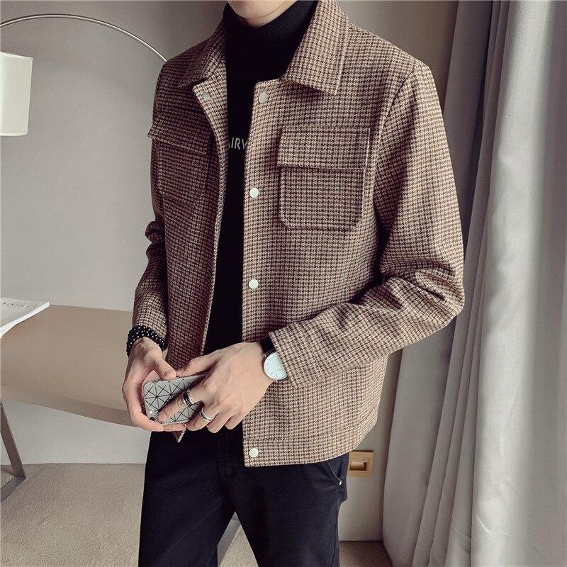 2019 Style Fashion Men Leisure Woolen Cloth Jackets Buckle Men Coat Single-breasted Trench Coat Windbreaker Abrigo Largo Hombre