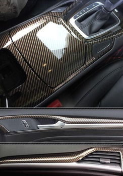 5D רכב מדבקת פנים סרט פחמן סיבי 50*200 פנים בקרת מדבקה לרכב בהיר משטח עמיד למים צבע שינוי סרט