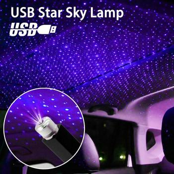 USB Car Roof Atmosphere Ambient Star Light Christmas Interior Decorative Light LED Star Light LED Projector Purple Night Light цена 2017