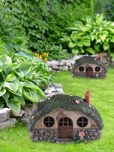 LED Solar Fairy House Light Anti-corrosion Solar Powered Pathway Lights Decorative Outdoor Lawn Yard Lamp For Garden Patio 6