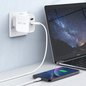 Image 5 - BlitzWolf 30W typu C ładowarka do telefonu komórkowego na PD/QC3.0 + 2.4A podwójny USB szybka ładowarka ue przejściówka Adapter ForiPhone 11 PRO XR dla iPad biały