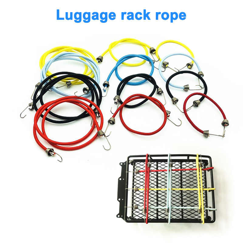 Elastic Roof Rack Rope Luggage Cords for 1//10 RC Rock Crawler Truck Axial F9G4