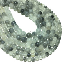 Natural Coudy Quartz Beads Round Loose Beads Healing Energy Gemstone For Jewelry Making Diy Bracelet Necklace 4/6/ 8/10/12mm 15