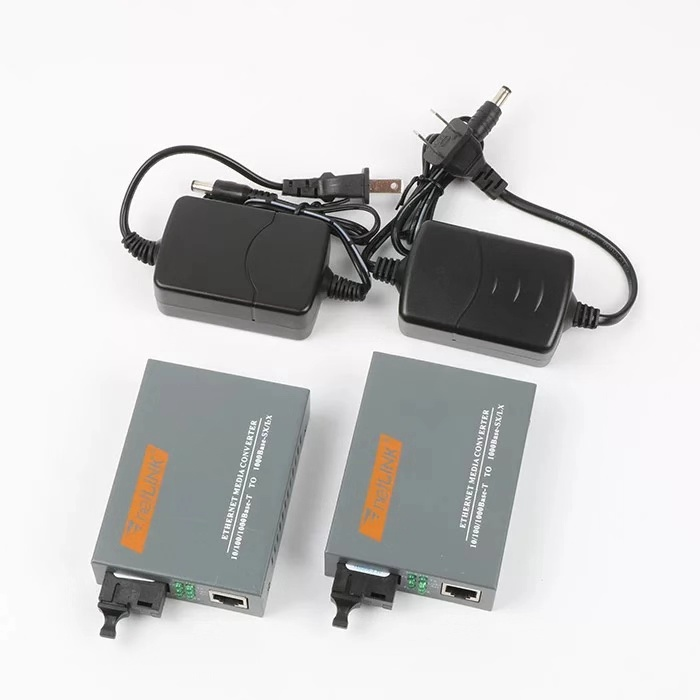 HTB-GS-03 A/B Gigabit Fiber Optical Media Converter 1000Mbps Single Mode Fiber SC Port 20KM