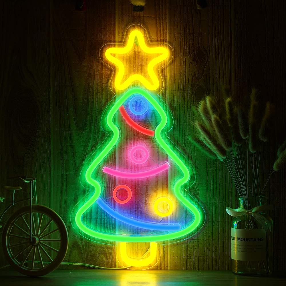 Permalink to Christmas Tree Rainbow Neon LED Rainbow Light Lamp for bar Decor Rainbow Decor Neon Lamp Wall Decor Christmas Neon Bulb Tube