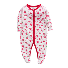 Baby Girl Romper Newborn Sleepsuit Flower Rompers 2019 Infant Clothes Long Sleeve Jumpsuits Boy Pajamas