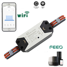 FEEO Wifi Switch Smart WiFi Relay Switch Wireless Light Remote Control Module For Smart Home Automation dc5v 12v 24v 32v wifi switch wireless relay module smart home automation for access control systemr inching self locking