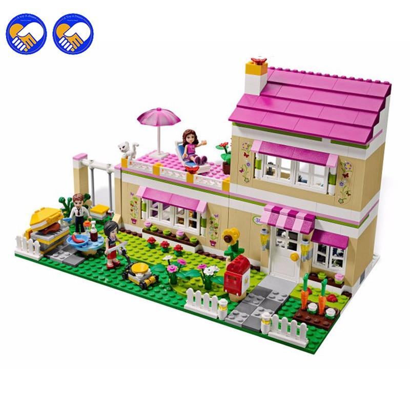 A toy A dream Hot 695 unids Casa 10164 amigas de Oliver Oliver/Peter/Anna Modelo bloques de construccion conjunto