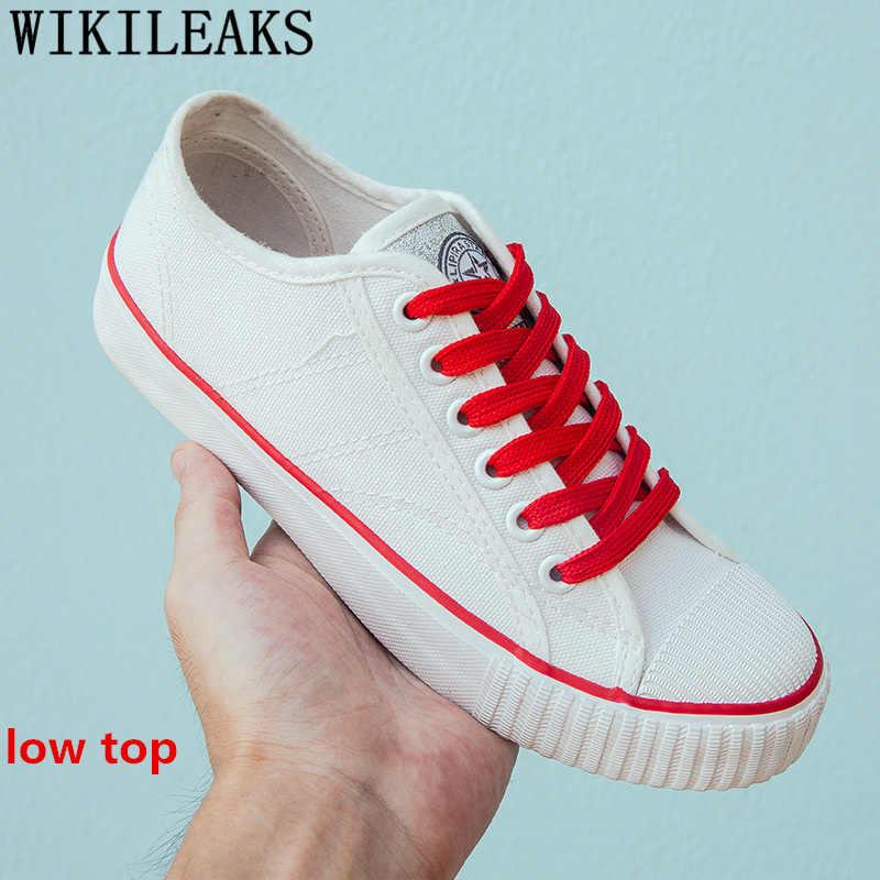 Высокие кроссовки Белая обувь мужская парусиновая обувь Мужская дышащая обувь мужские кроссовки удобные унисекс zapatos hombre Повседневная