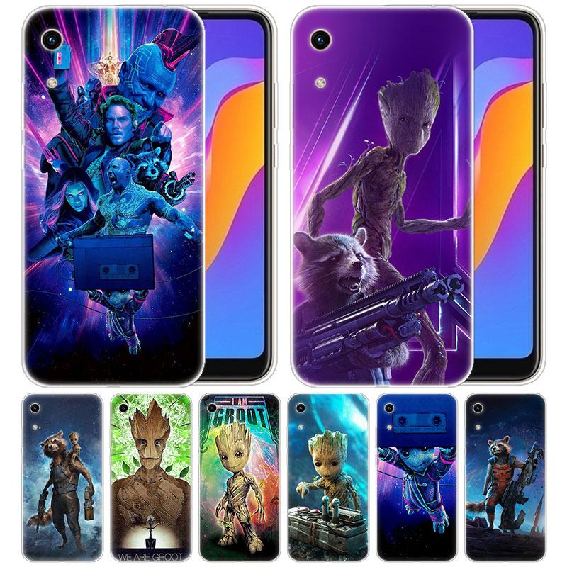 Silicone <font><b>Case</b></font> <font><b>Marvel</b></font> Guardians of the Galaxy Groot for Huawei <font><b>Honor</b></font> 9X 8A 7A 20 Pro 7X 8X 7S 8S 8 <font><b>9</b></font> 10 <font><b>Lite</b></font> View 20 20i 10i Play image