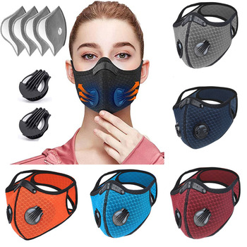 Activated Carbon PM 2.5 Anti-pollution Running Cycling Facial Care Mask Face Mask Breathable Bacteria-proof Sport Face Mask