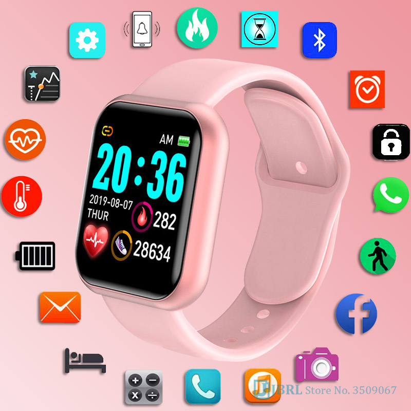 Smart Watch Women Fitness Tracker Heart Rate Sleep Monitoring Sport Digital Watches Bracelet For Andriod Ios Smartwatch Female