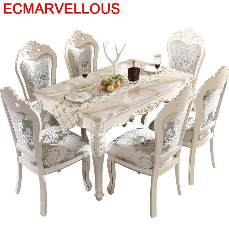 Marmol Langer Esstisch A Manger Moderne Dinning Comedores Mueble Tisch Redonda European Desk De Jantar Bureau Mesa Dining Table