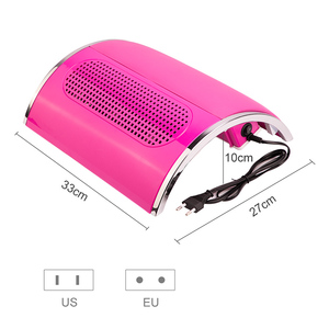 Image 3 - Powerful 3 Fan Nail Dust Suction Collector with 2 Dust Collecting Bags  Vacuum Cleaner Manicure Tools