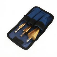 цена на 3Pcs 4-12/4-20/4-32mm HSS Step Drill Bit High Speed Steel Step Cone Drill Bit Hex Shank Titanium Plating