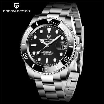 PAGANI DESIGN 2021 automatyczny mechaniczny NH35A męski zegarek ze stali nierdzewnej nurkowanie szafirowe szkło męski luksusowy zegarek reloj hombre tanie i dobre opinie PAGRNE 10Bar CN (pochodzenie) Zapięcie bransolety BIZNESOWY Mechaniczna nakręcana wskazówka Samoczynny naciąg 22cm