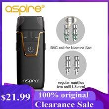 E Sigaretten Aspire Nautilus Aio Vape Kit 4.5 Ml/2 Ml Pod Systeem Verstuiver Bvc Spoel Ingebouwde 1000 Mah Batterij Vaper Vaporizador