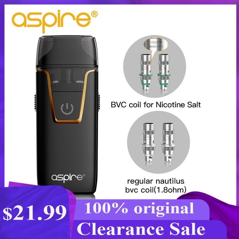 Electronic Cigarette Kit Aspire Nautilus AIO Vape 4.5ml Pod System Atomizer BVC Coil Built-in 1000mAh Battery Vaper Vaporizador