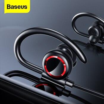 Baseus S17 Sport Wireless Earphone Bluetooth 5.0 Earphone Headphone For Xiaomi iPhone Ear Phone Buds Handsfree Headset Earbuds original sabbat wireless earbuds 5 0 bluetooth earphone sport hifi headset handsfree waterproof ear buds for samsung phone