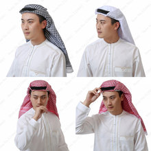 Arab Muslim for Men Abaya Arabic Head Scarf Prayer Hats Islamic Clothing Turban Dubai Hijabs 135*135cm Man Kaftan Caps Headpiece(China)