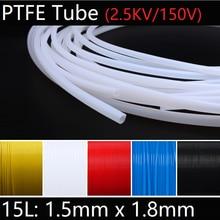 15L 1.5mm x 1.8mm PTFE Tube F46 Insulated Capillary Heat Protector Transmit Hose Rigid