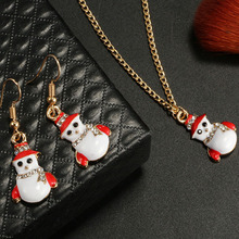 2019 Collar Kettingen Chains Tin Women Crystal Kolye Moana Collares Christmas Snowman Oil Hat Necklace Set