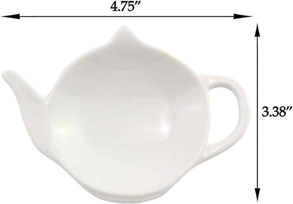 セラミックティーバッグ皿、ティーバッグソーサーティーバッグ用の茶注入器メッシュ