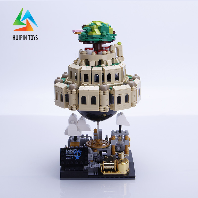 1179Pcs XINGBAO Building Blocks Toys XB-05001 Moc Laputa: Castle in the Sky Bricks With Music Box Gift For Children 4PX to DE 1