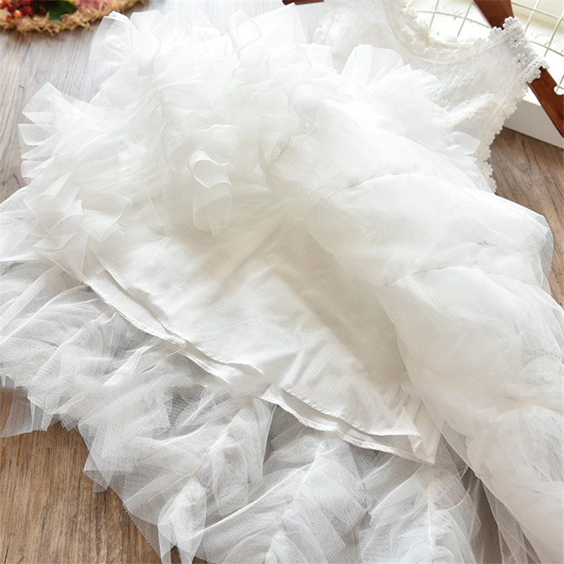 Children Formal Clothes Kids Fluffy Cake Smash Dress Girls Clothes For Christmas Halloween Birthday Costume Tutu Lace Outfits 8T 6