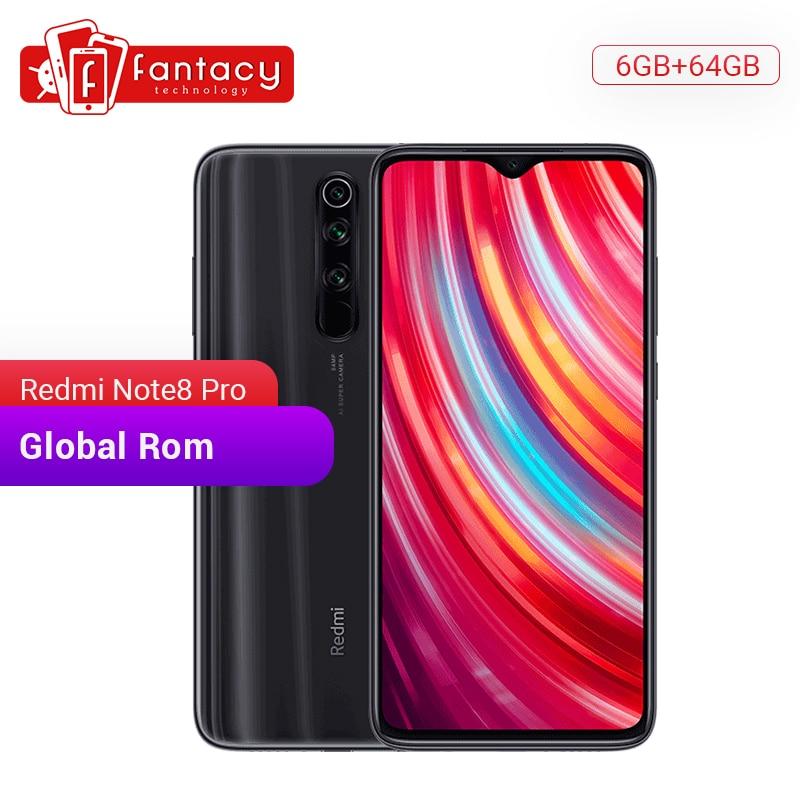 Global Rom Xiaomi Redmi Note 8 Pro 6GB RAM 64GB ROM 64 MP Quad Camera MTK Helio G90T Smartphone 4500mAh 18W QC 3.0 UFS 2.1
