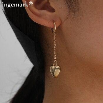 펑크 Boho 작은 연인 하트 펜던트 드롭 귀걸이 여성 Kpop 미니멀리즘 간단한 술 귀걸이 패션 쥬얼리 귀 액세서리