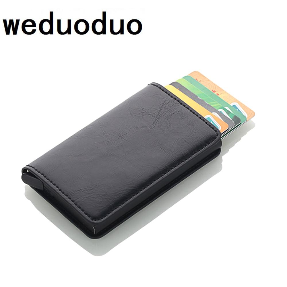RFID Wallet ID Card Case Aluminium Travel Purse Business Credit Card Holder Wallet Unisex Metal Blocking Wallet