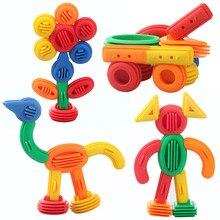 Детские забавные пластиковые строительные блоки, развивающие игрушки для детей, 3D строительные игрушки, детские DIY дизайнерские забавные кирпичи