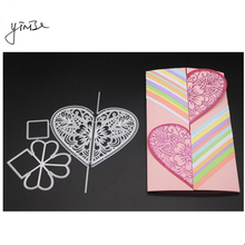 YINISE Scrapbook Metal Cutting Dies For Scrapbooking Stencils HEART CARD DIY Album Cards Decoration Embossing Folder Die Cut