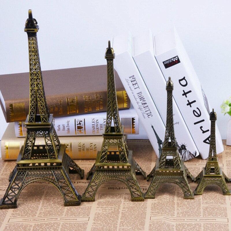 Бронзовая парижская башня 5-13 см, металлические ремесла, статуэтка, модель домашнего декора, сувенирная модель, детские игрушки