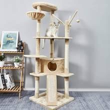Кошачье дерево кошачья Когтеточка рама для лазания котята 6
