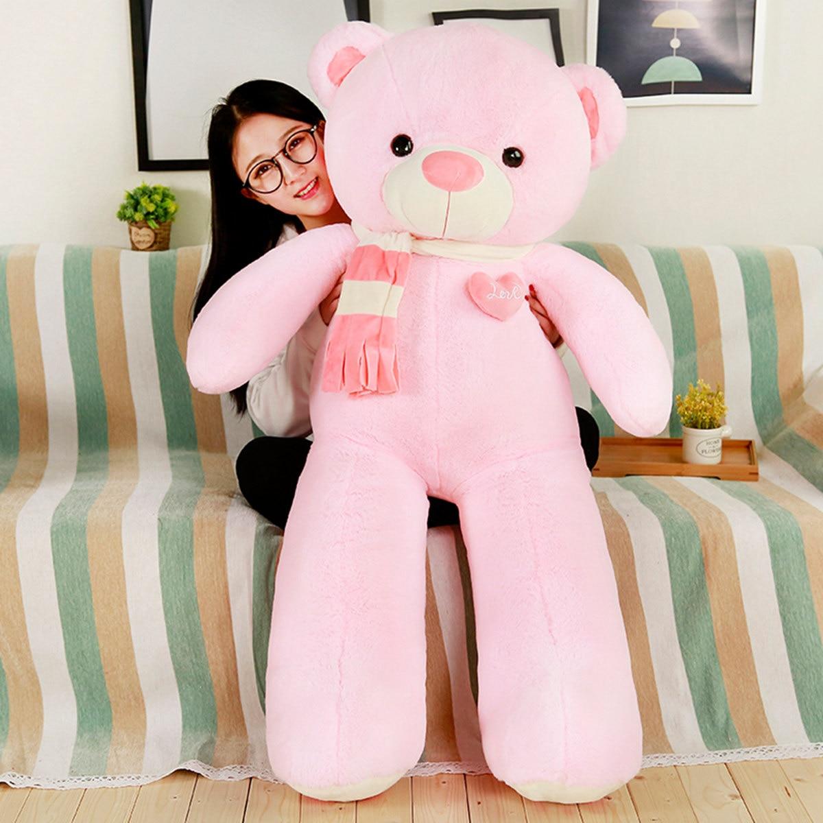 Teddy Bear Plush Toys Stuffed Animals Soft Big Heart Bear Yesbear Pillow Birhday Valentines Day Gifts For Girls Kid Just6F
