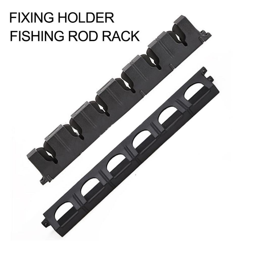 Vertical 6 Rod Rack Fishing Pole Holder Wall Mounted Fishing Rod Modular Holder For Garage