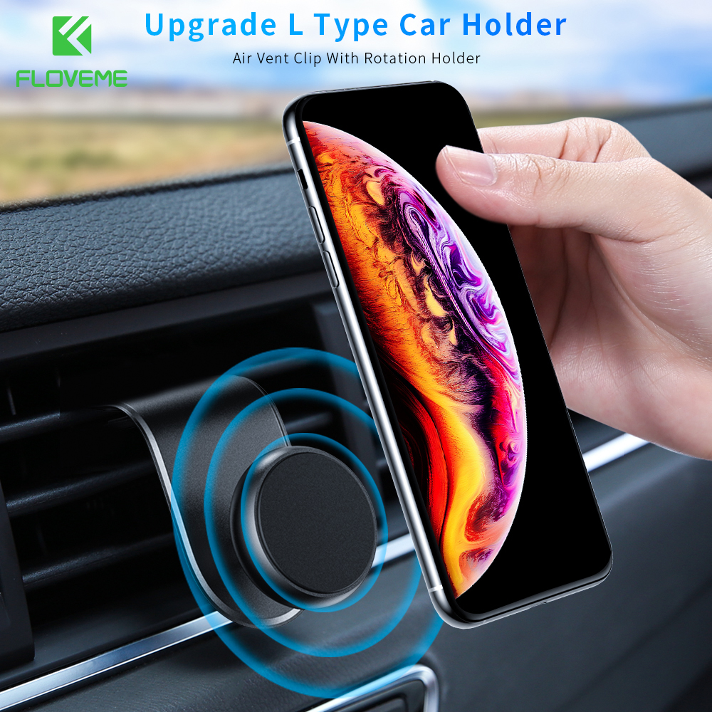 FLOVEME Magnetic Car Holder For IPhone 11 Pro Max Samsung Universal Smartphone Car Air Vent Mount Holder Stand For Cell Phone