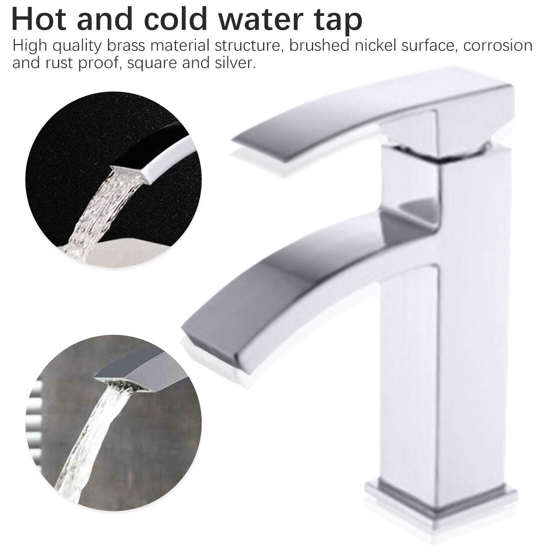 Bathroom Faucet Single Handle For Bathroom Sink Mixer Tap Stainless Steel Chrome Basin Mixer Bathroom Accessories