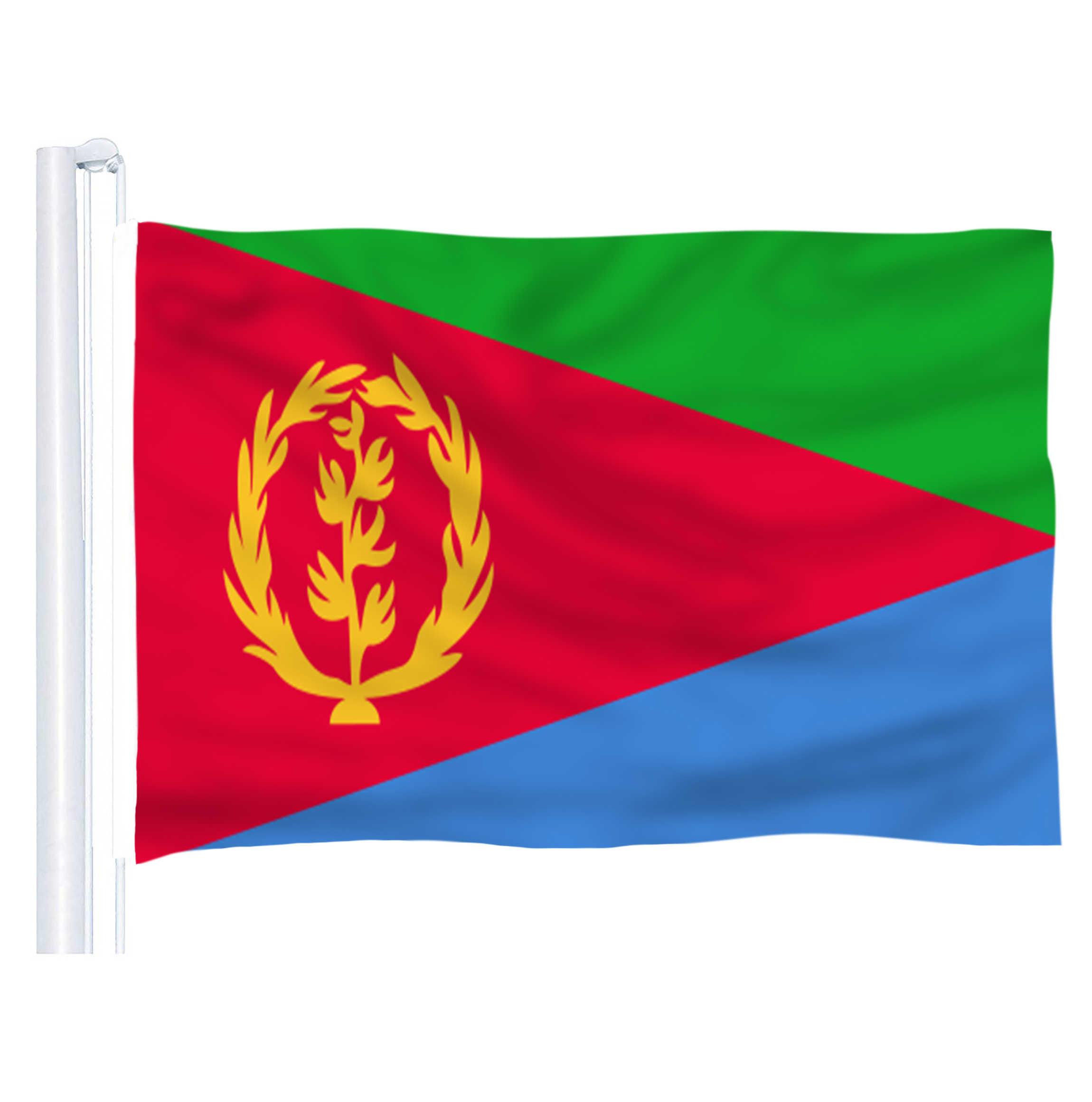 2018 ขายร้อนของเอริเทรีย (ER) ธงธงโพลีเอสเตอร์ 5*3 ฟุต 150*90 ซม.โลโก้สี