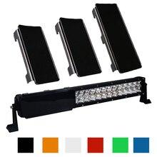 """20 """"אינץ LED אור בר הצמד על מגן עדשת כיסוי 2x6 + 1x8 """"6 צבעים עבור 20 22 120W Offroad 4WD משאיות סירת טרקטורונים SUV"""