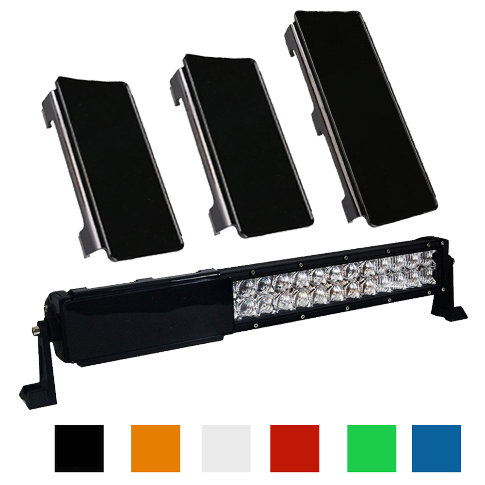 20 inch LED Light Bar Snap On  Protective Lens Cover 2x 6'' + 1x 8 6 Colors For 20-22'' 120W Offroad 4WD Trucks Boat ATV SUV