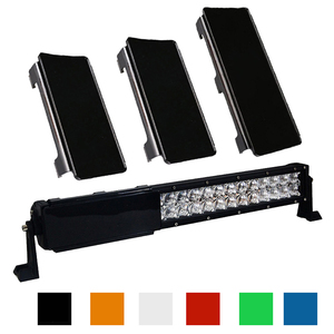 """Image 1 - 20"""" inch LED Light Bar Snap On  Protective Lens Cover 2x 6 + 1x 8"""" 6 Colors For 20 22 120W Offroad 4WD Trucks Boat ATV SUV"""